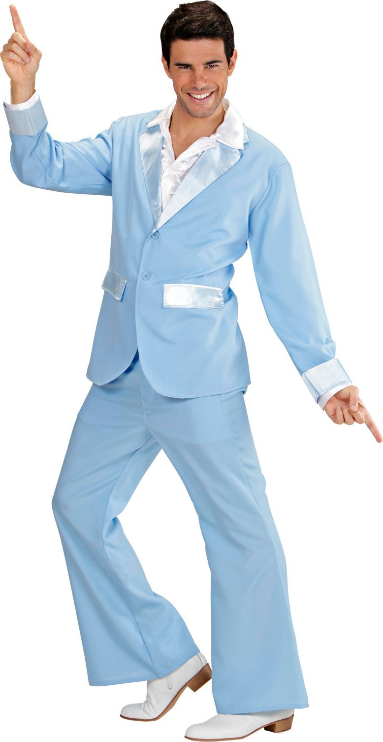 Disco outfit blauw