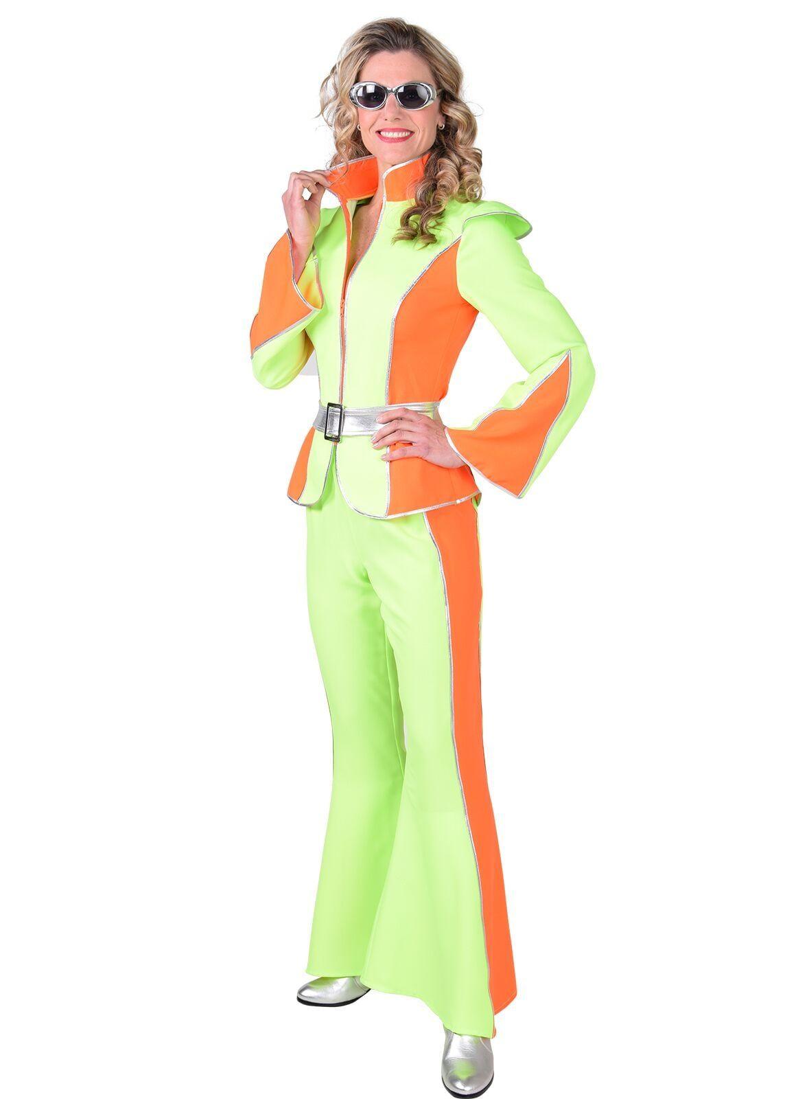 Disco pak fluor oranje groen vrouwen