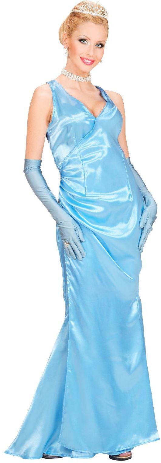 Diva jurk blauw