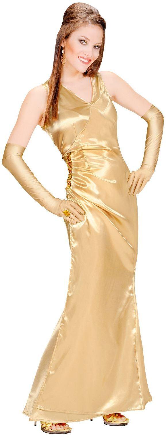 Diva jurk goud