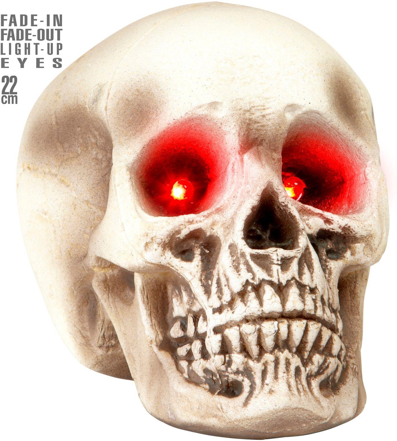 Doodshoofd met oogverlichting