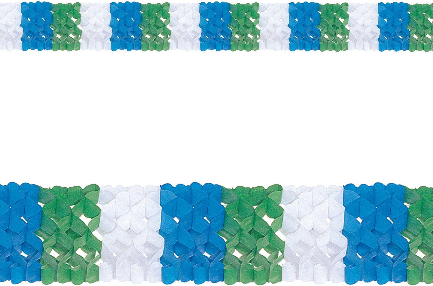 Driekleurige papieren slinger