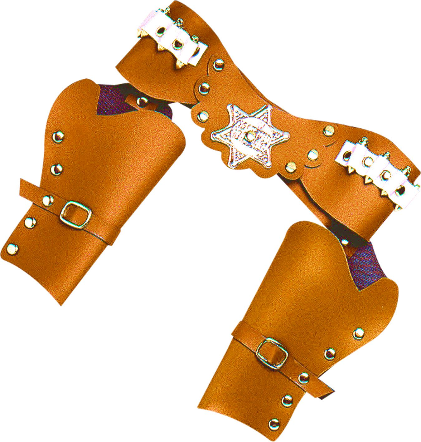 Dubbele cowboy holster bruin