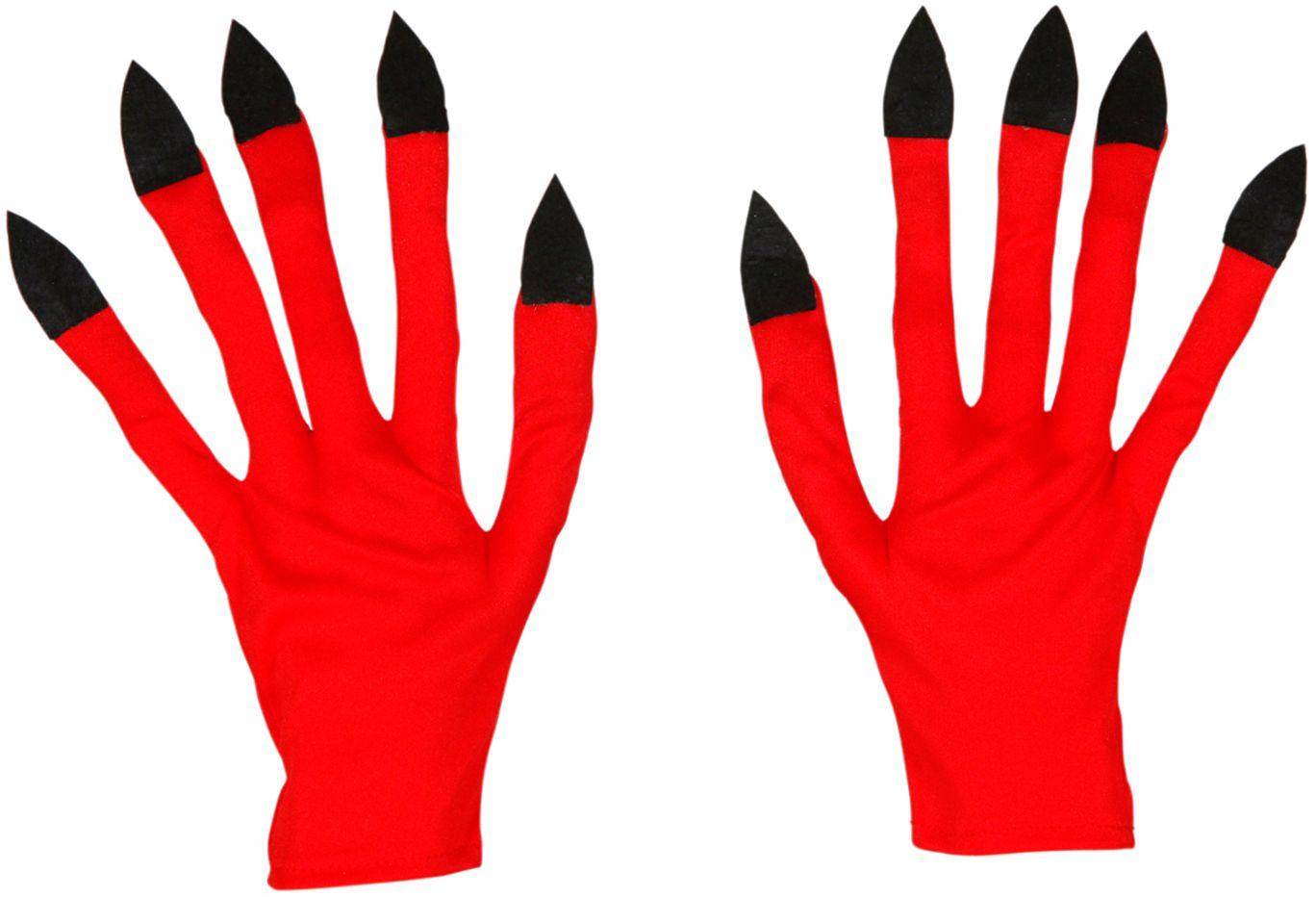Duivel handschoenen rood