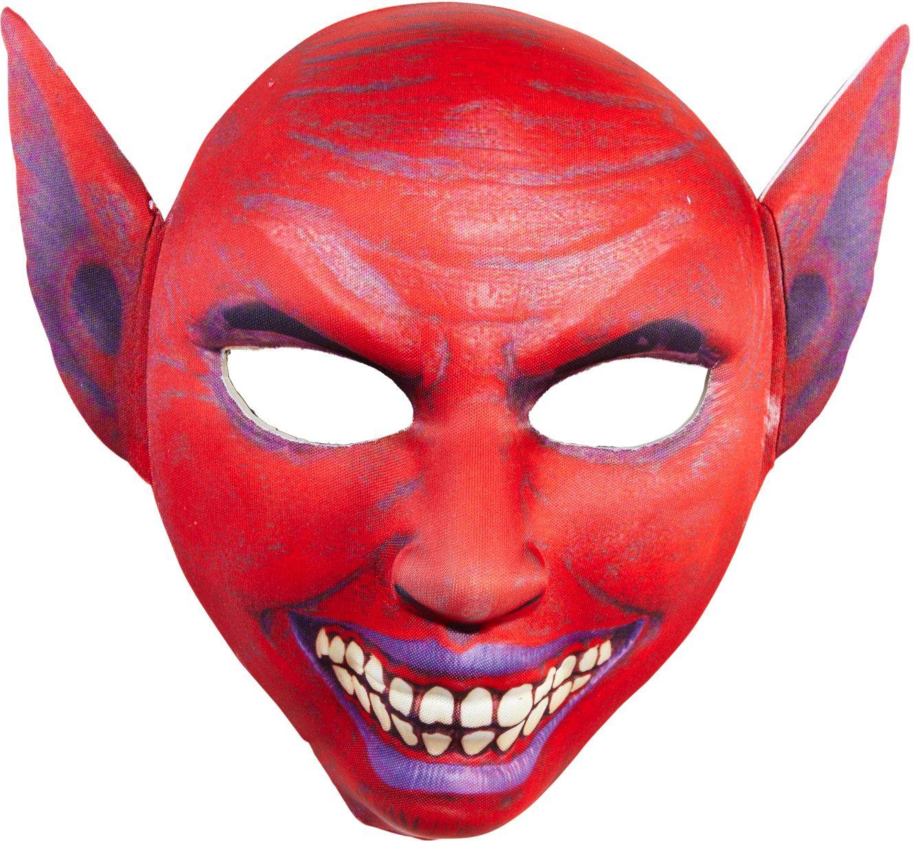 Duivel masker met puntoren rood