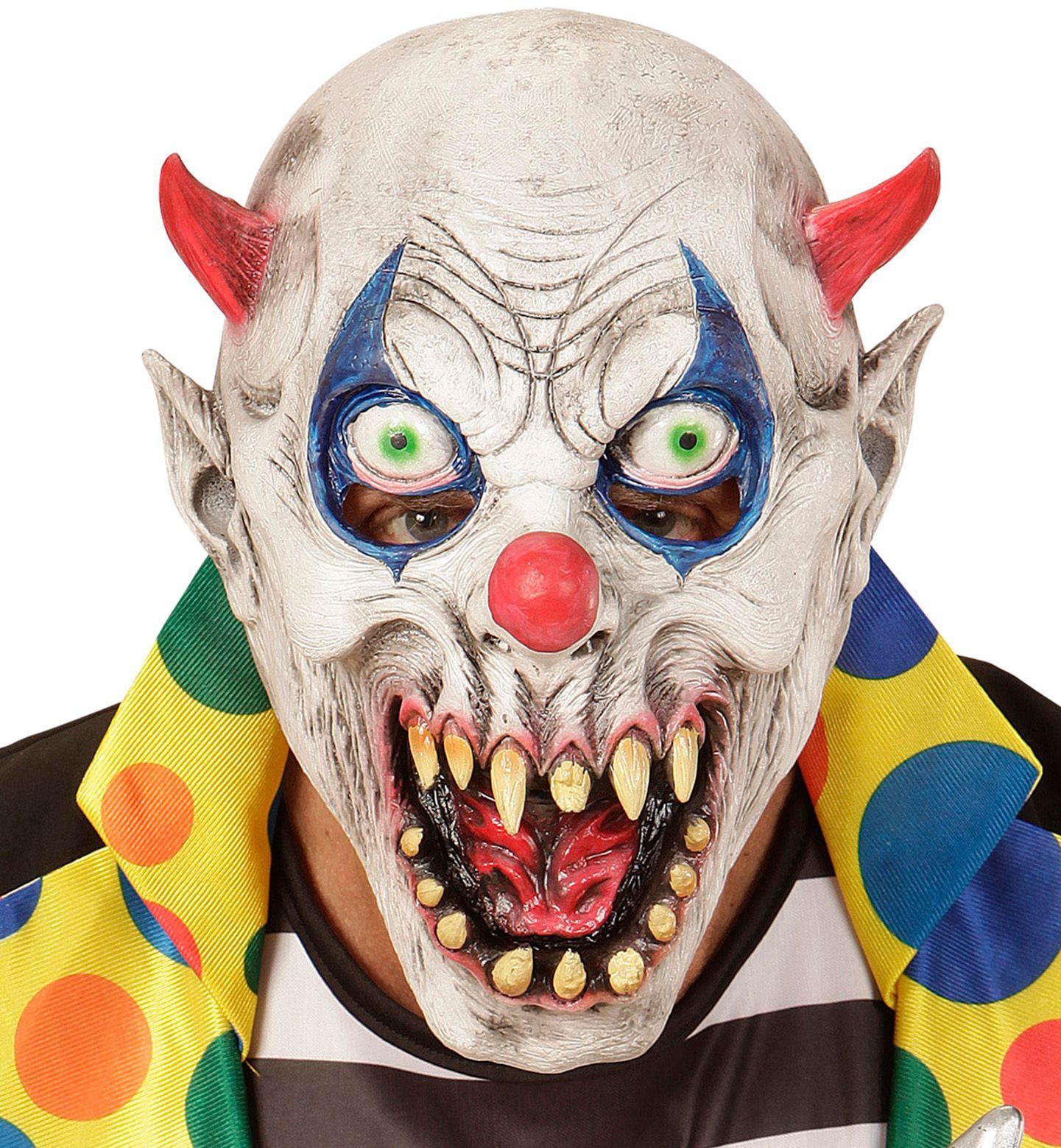 Duivels clownsmasker kind