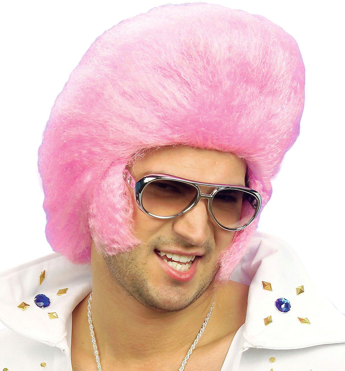 Elvis pruik roze