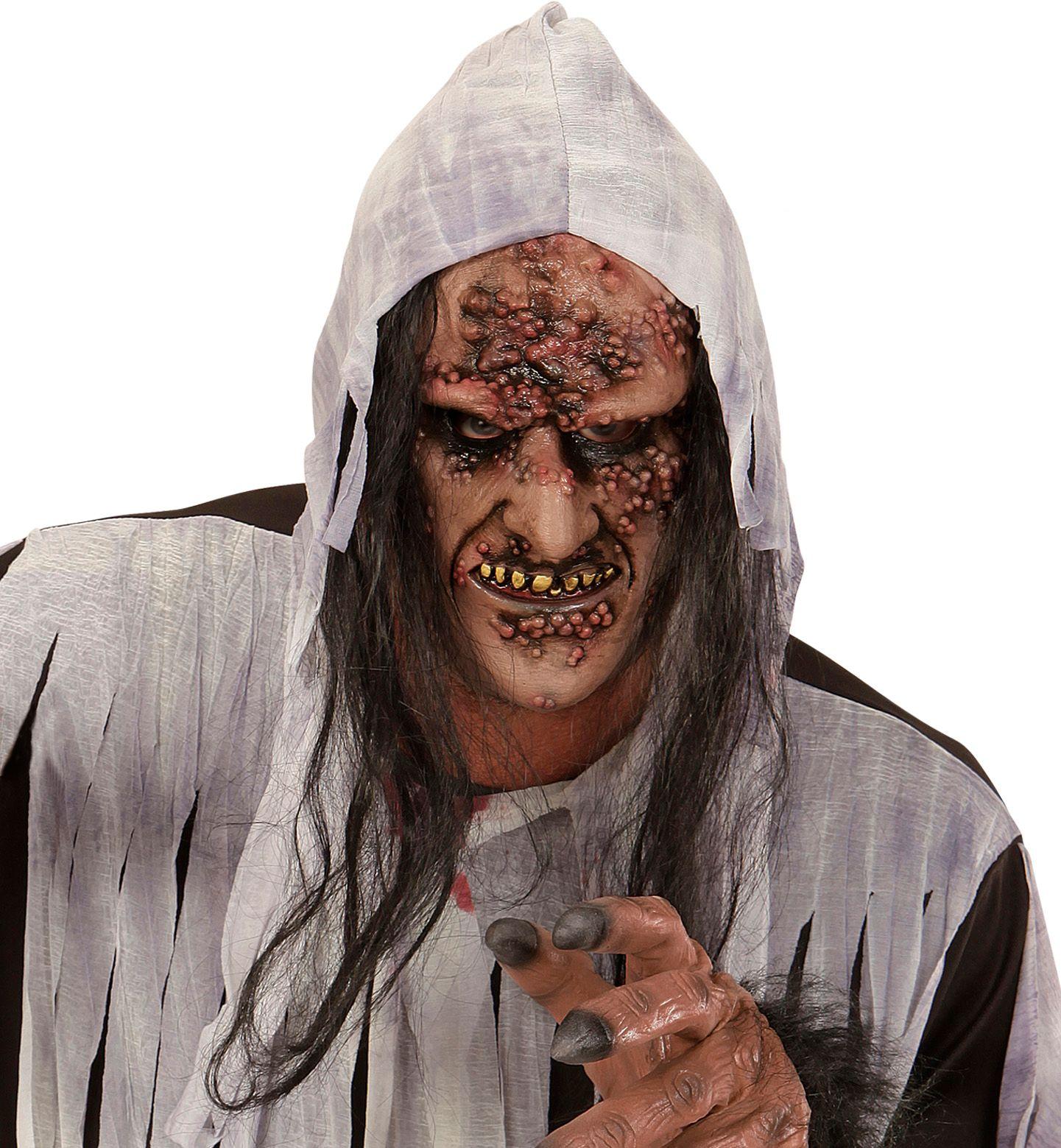 Eng zombie masker met haar