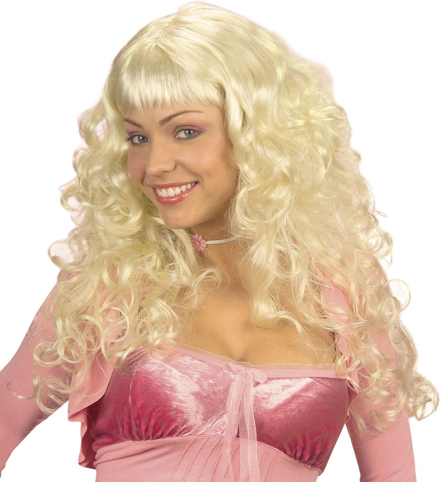 Engel pruik blond
