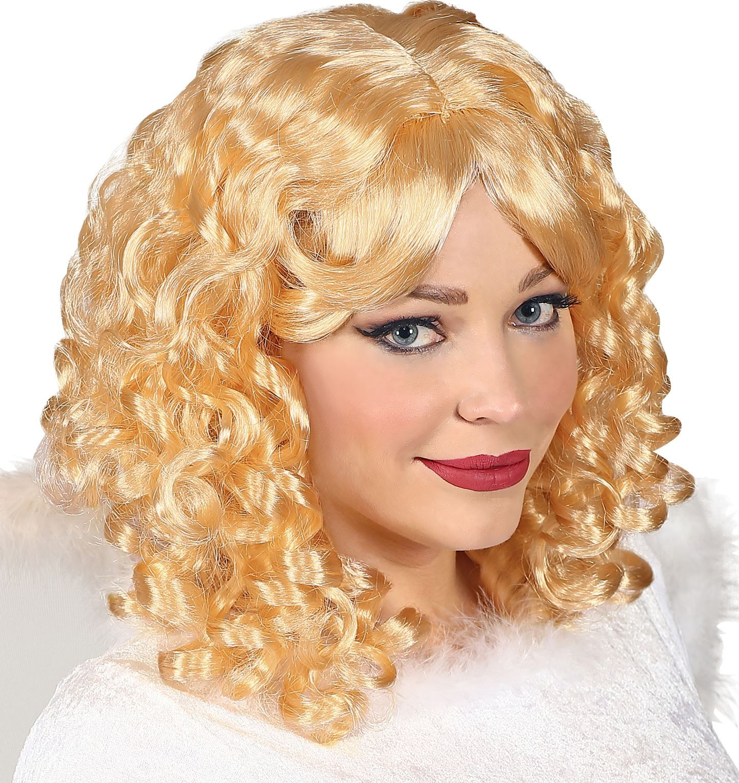 Engelen pruik blond