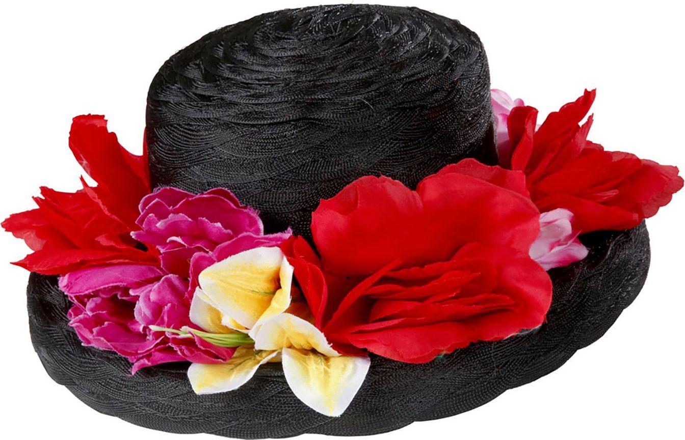 Engelse dameshoed met bloemen