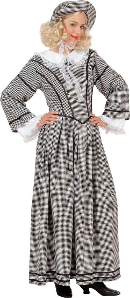 Engelse jurk met hoed
