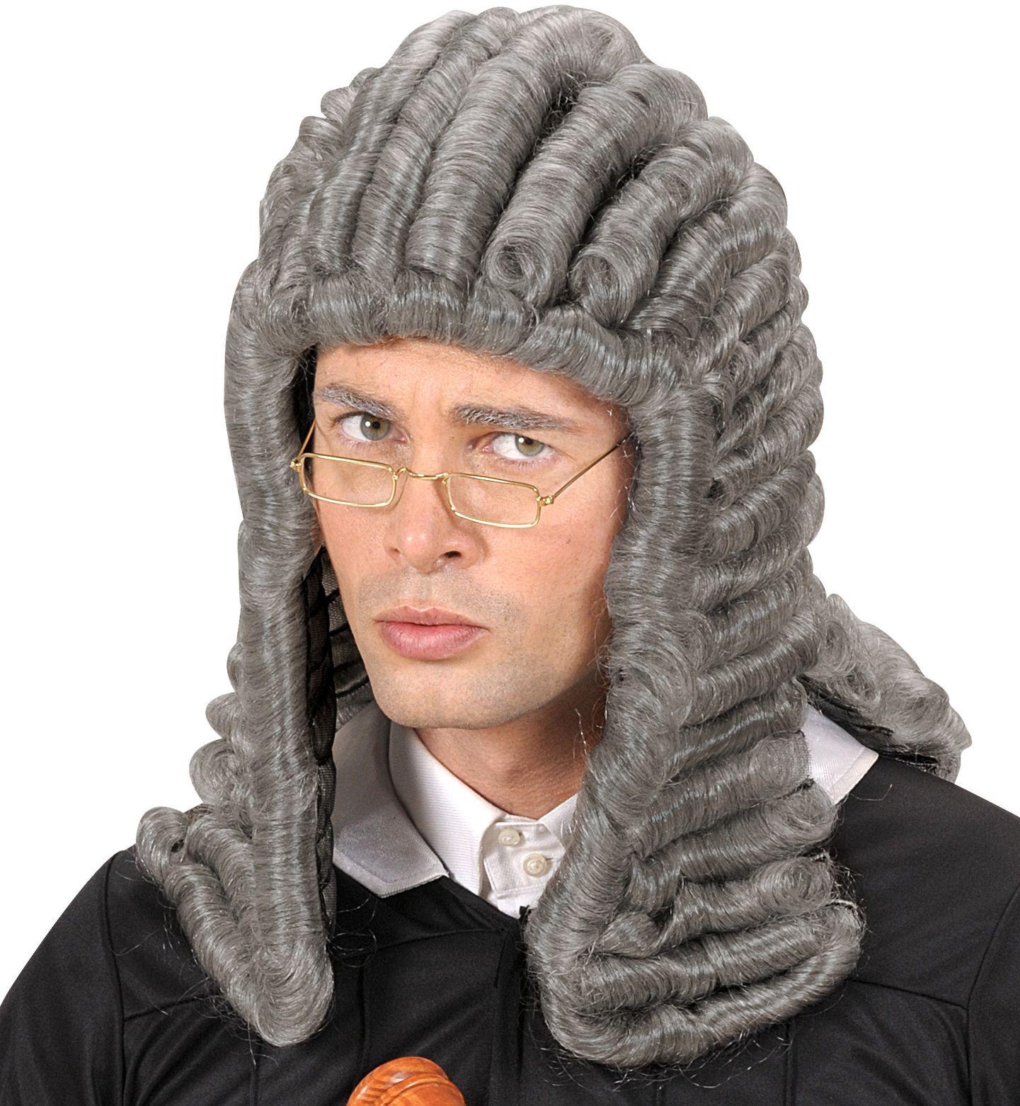 Engelse rechter pruik grijs