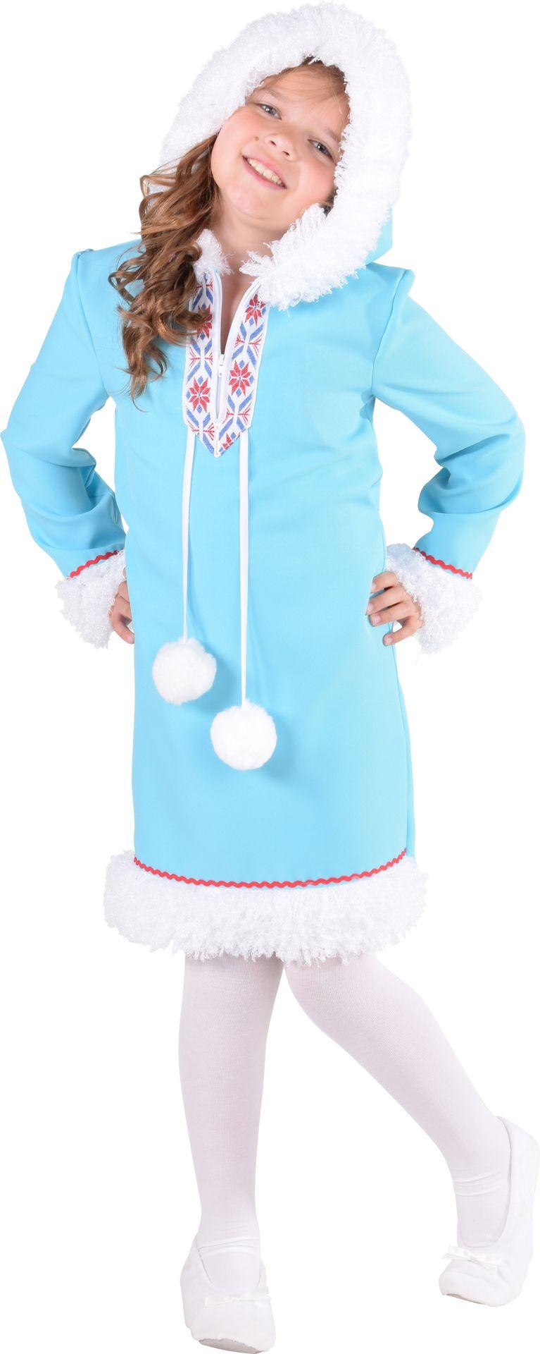 Eskimo jurk meisje blauw