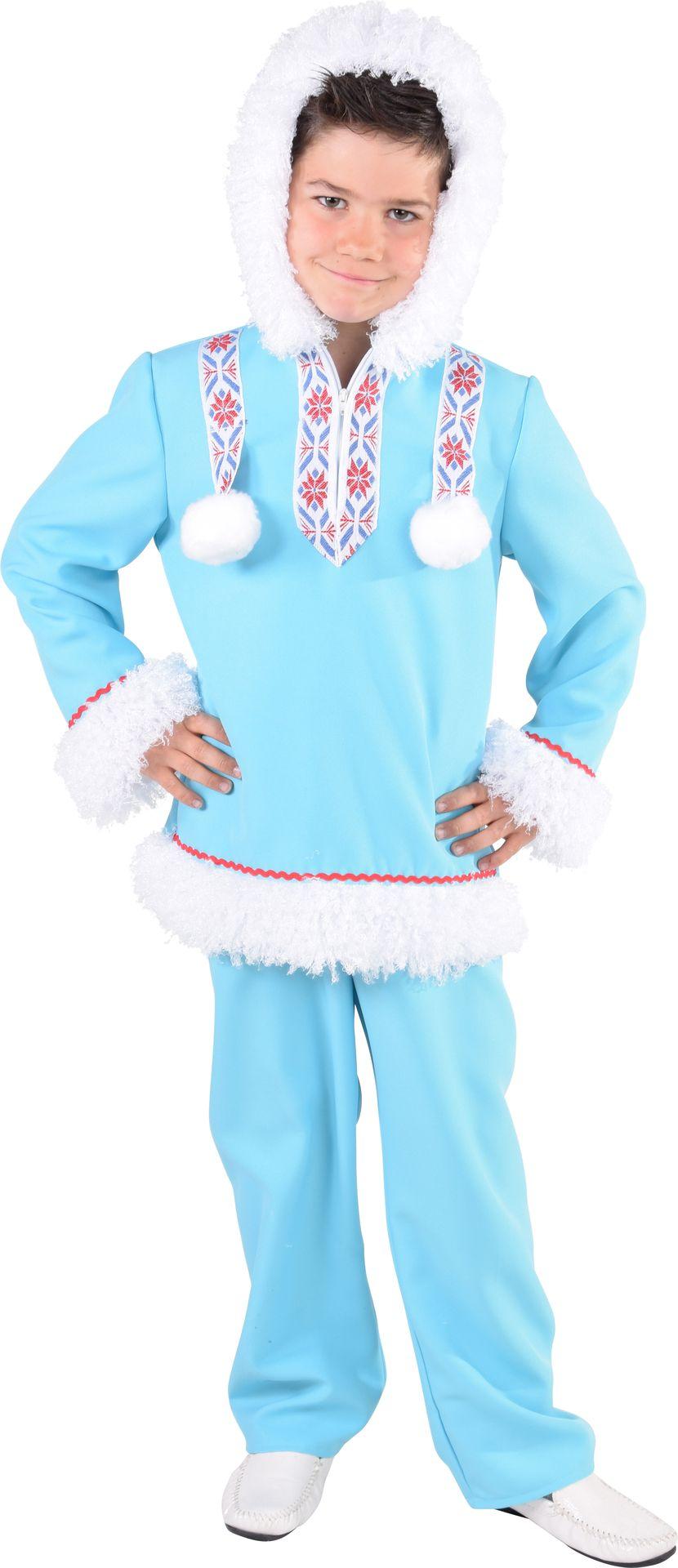 Eskimo kostuum jongens blauw