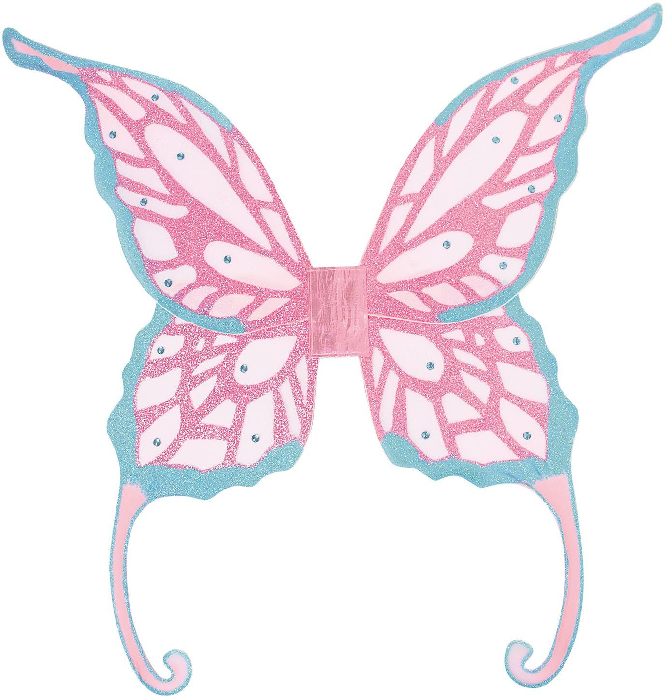 Feeën glitter vleugels blauw paars