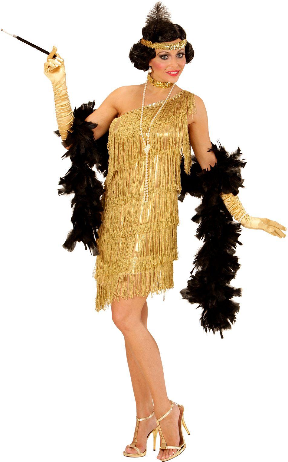 Flapper jurk goud