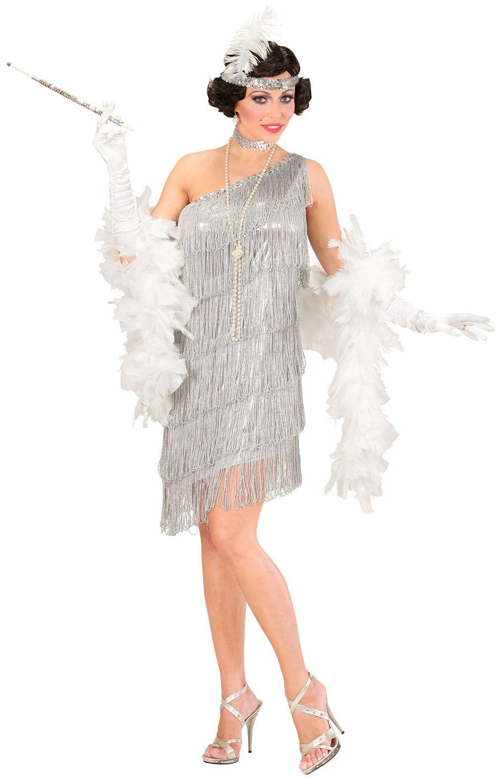 Flapper jurk zilver