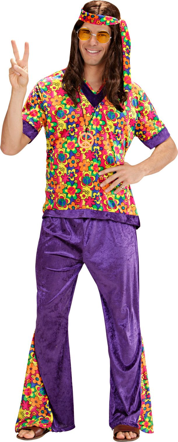 Flower power kleding man