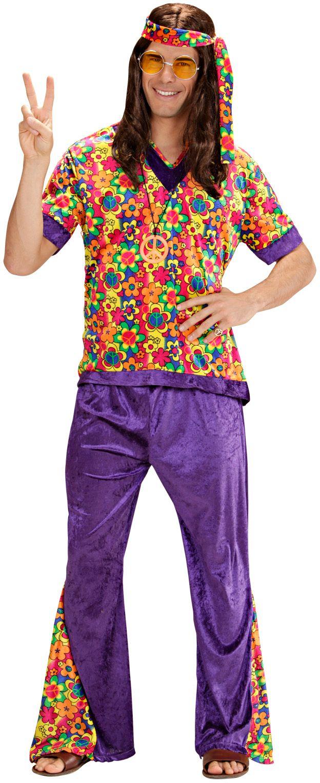 Flower power kleding man