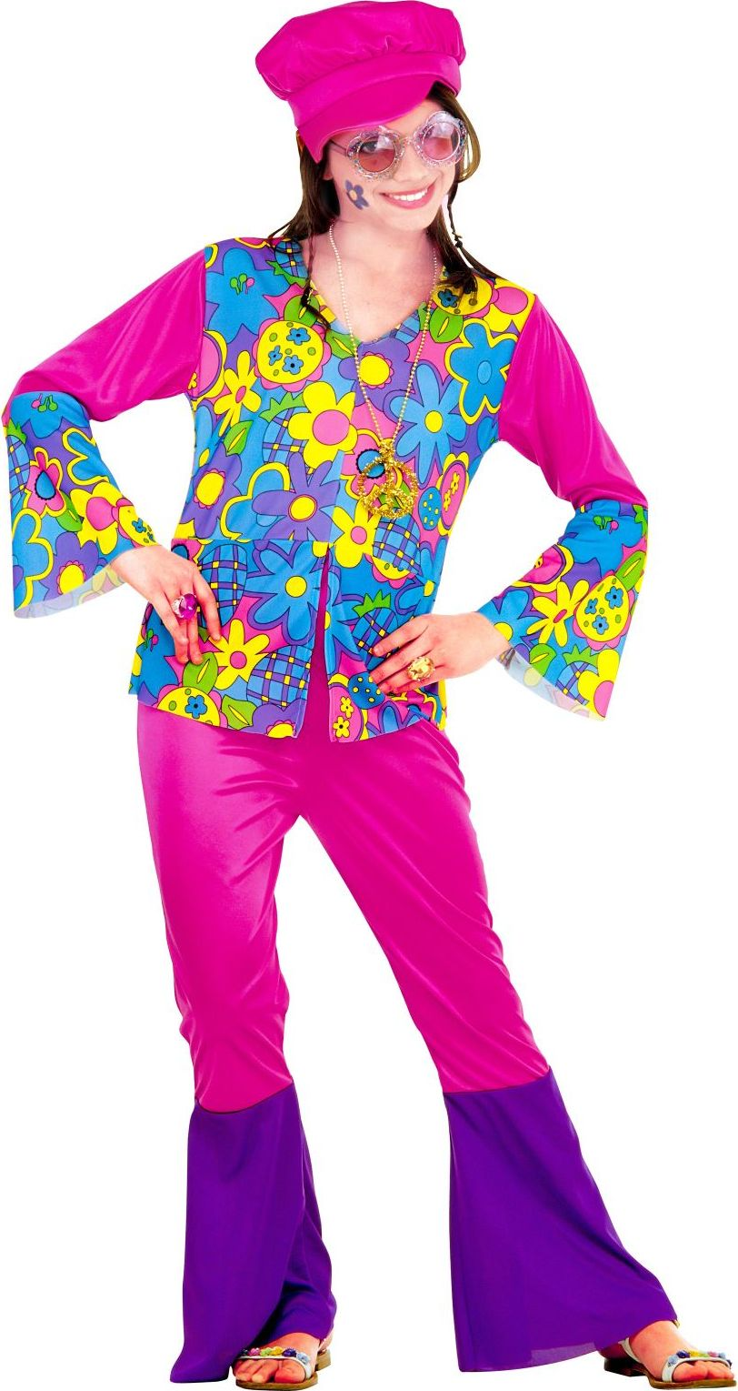 Flower power outfit dames
