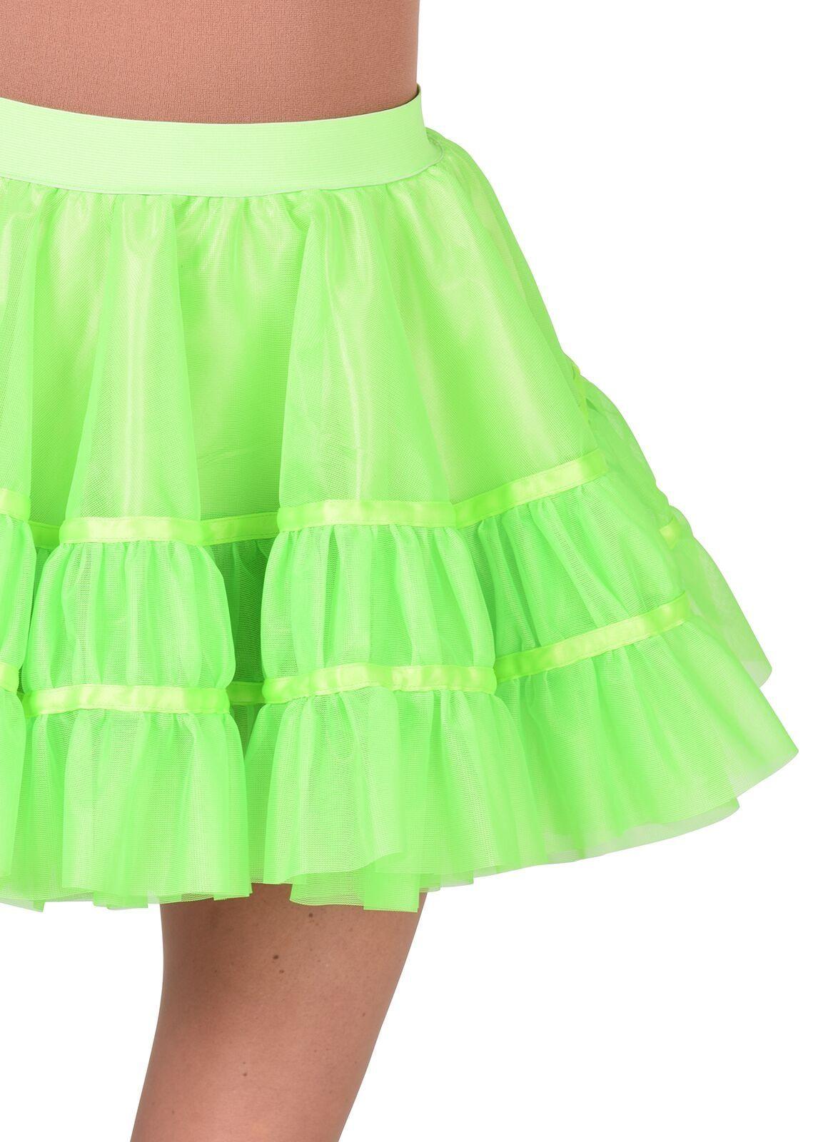 Fluor groene petticoat vrouwen