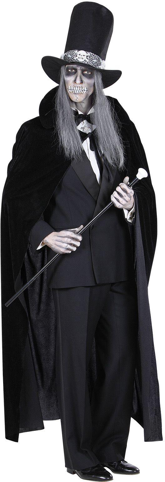 Fluwelen cape zwart