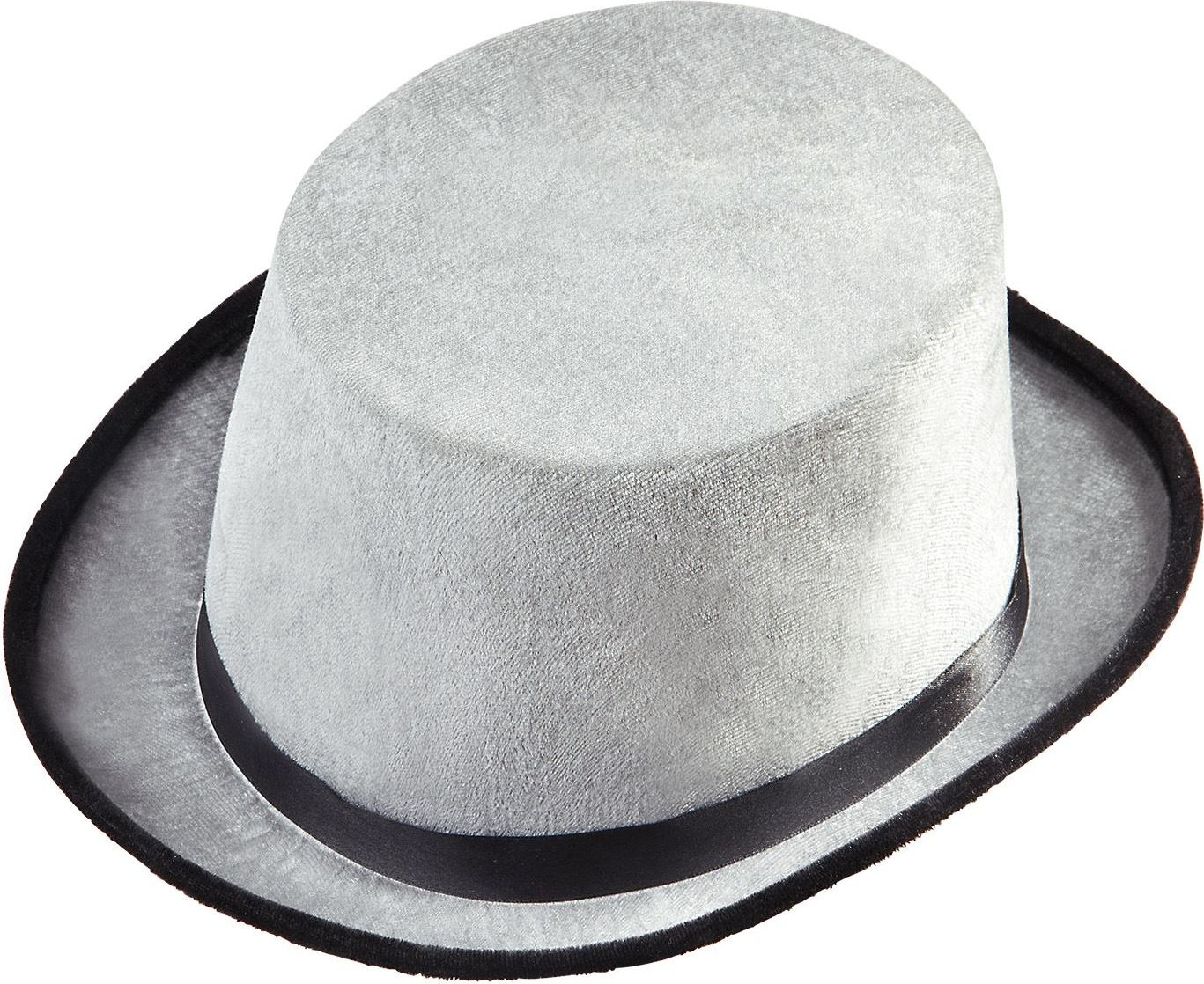 Fluwelen hoge hoed grijs