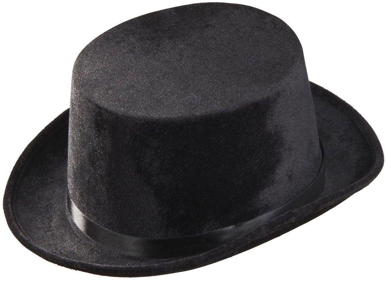 Fluwelen hoge hoed zwart