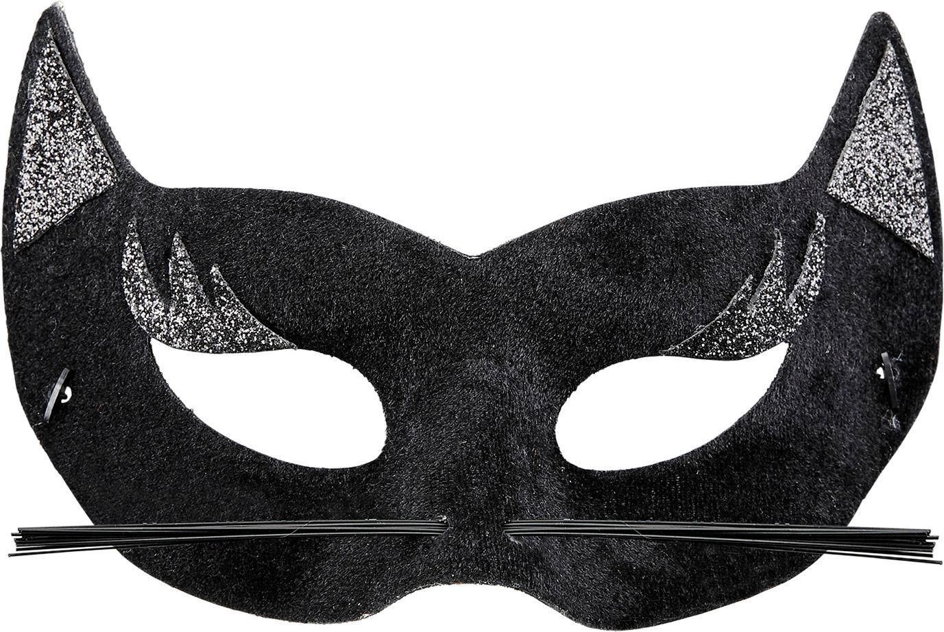 Fluwelen panter oogmasker zwart