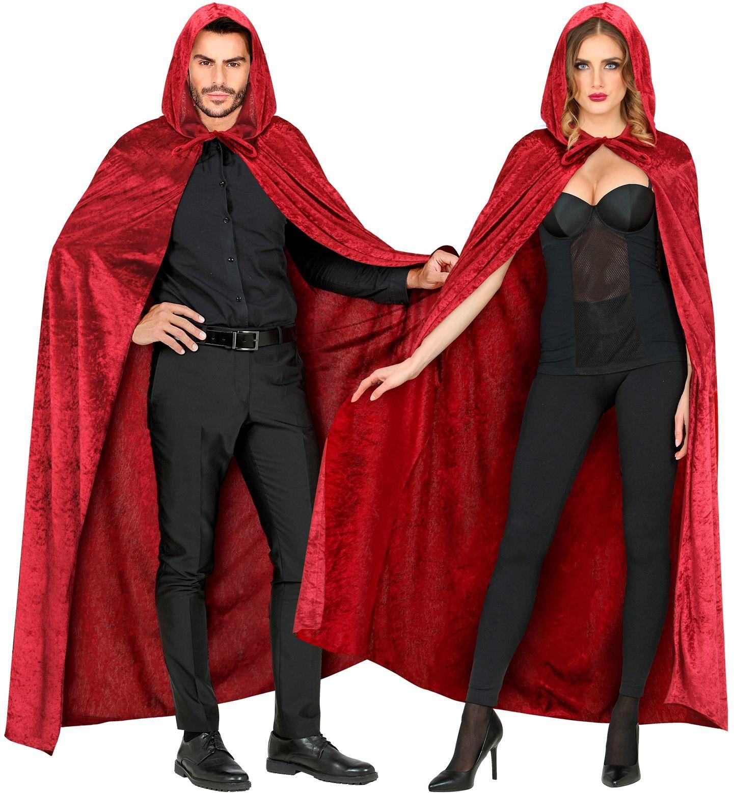 Fluwelen vampier cape rood