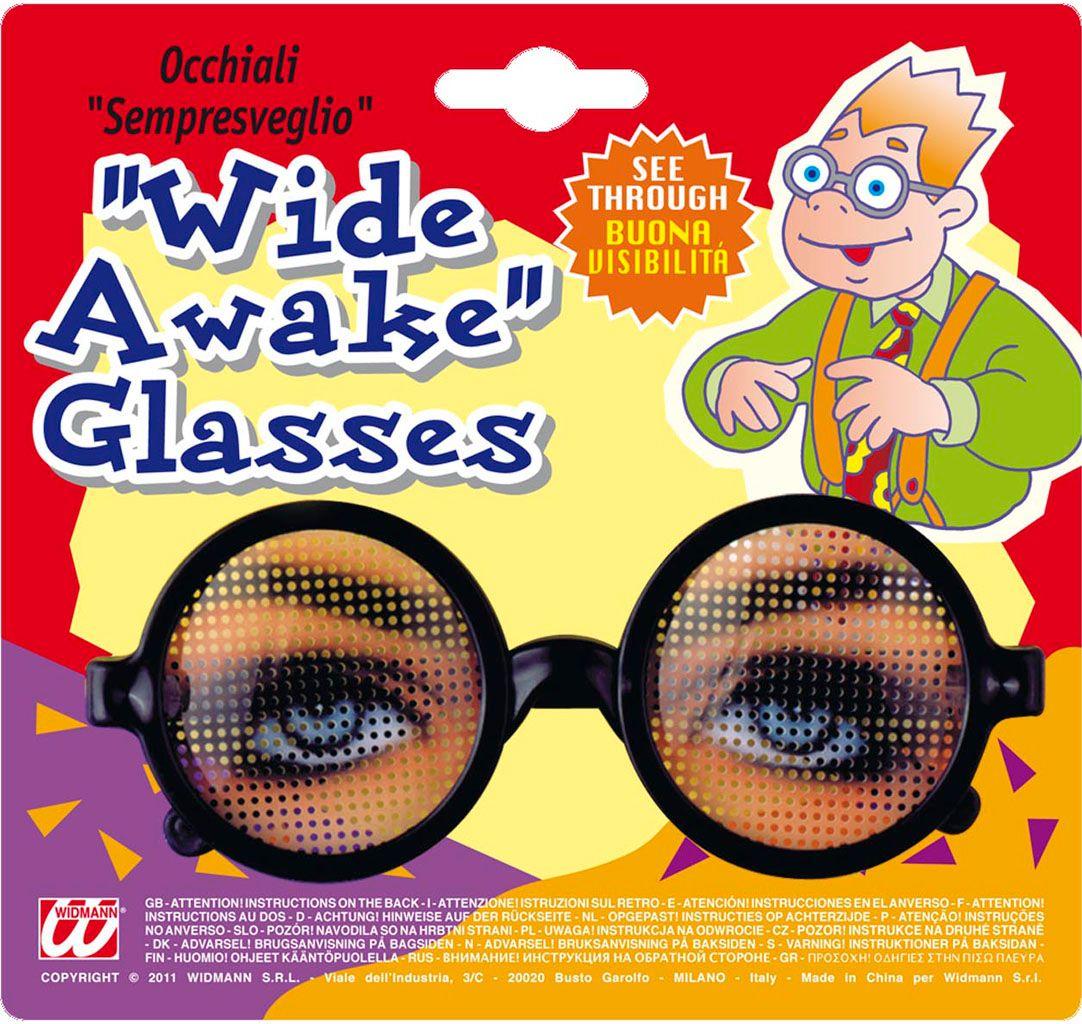 Fop bril met open ogen