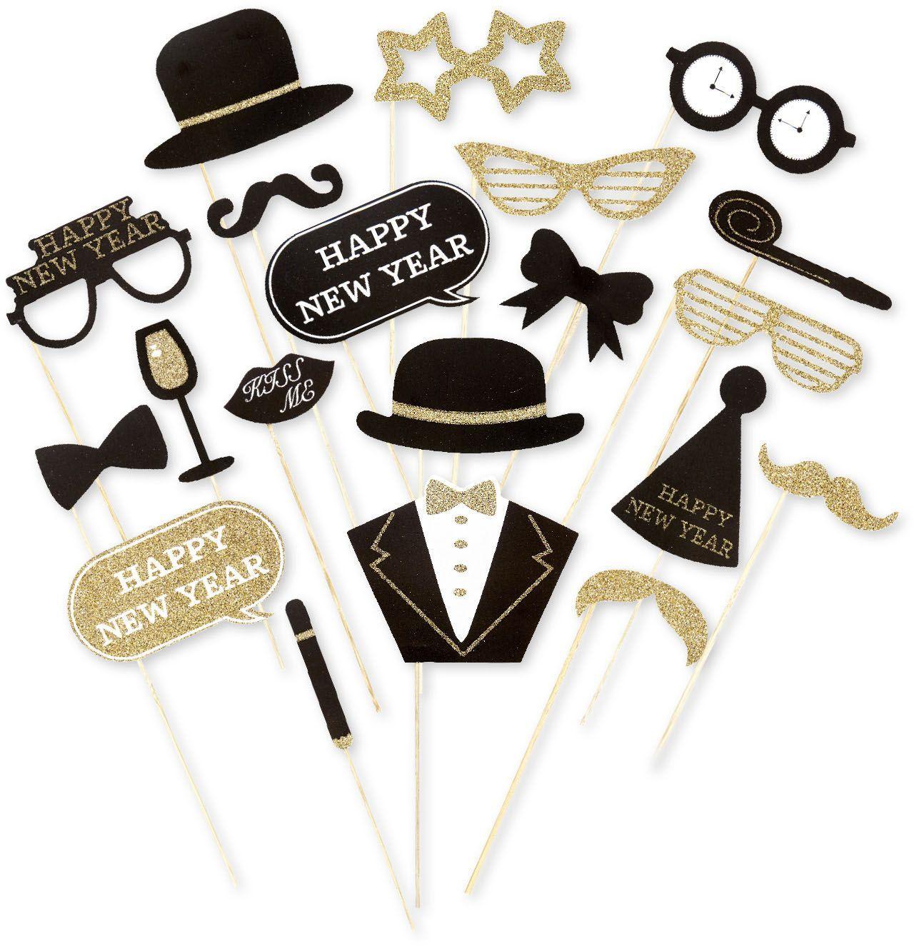 Foto accessoires nieuwjaarsavond