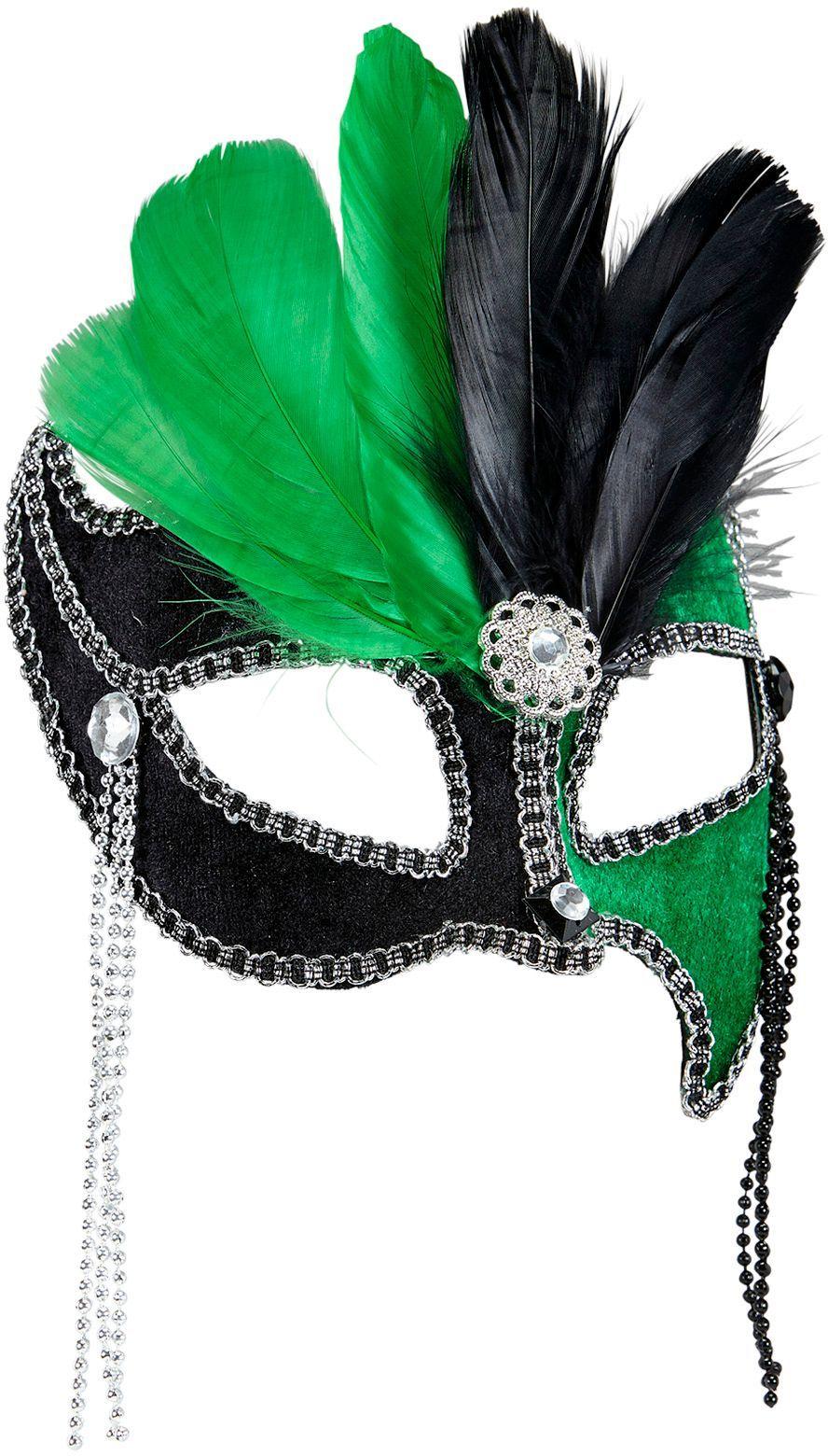Gala oogmasker zwart-groen
