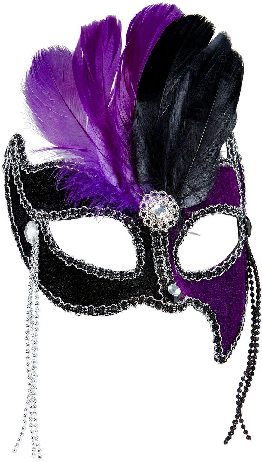 Gala oogmasker zwart-paars