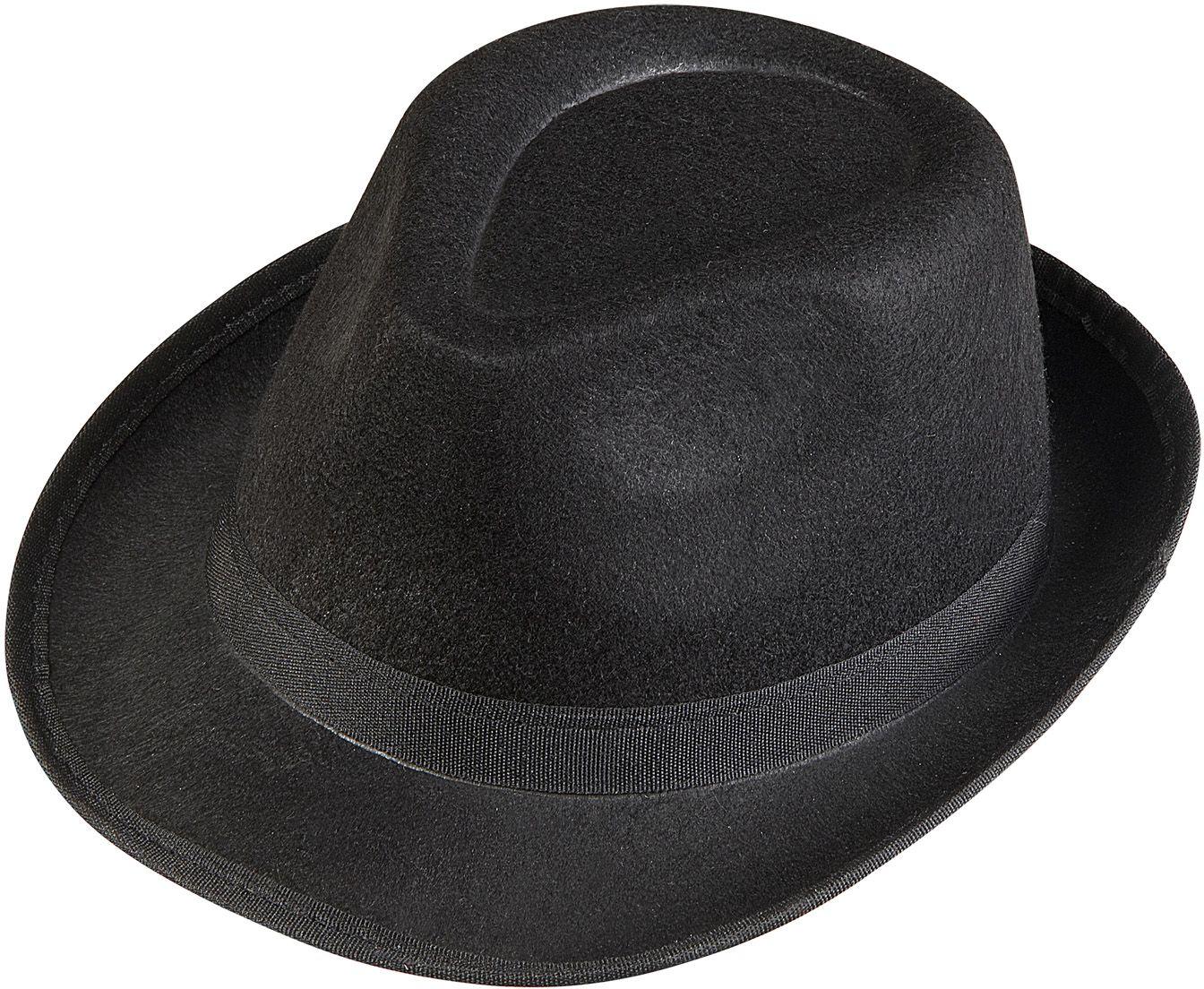 Gangster fedora hoed zwart
