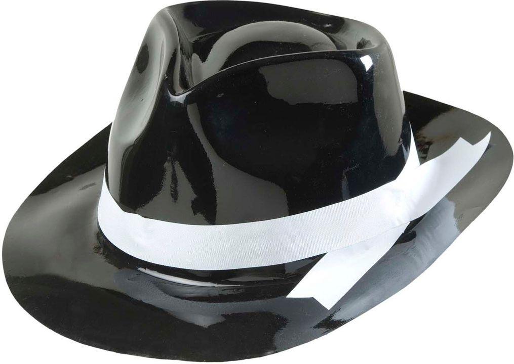 Gangster hoed met witte band