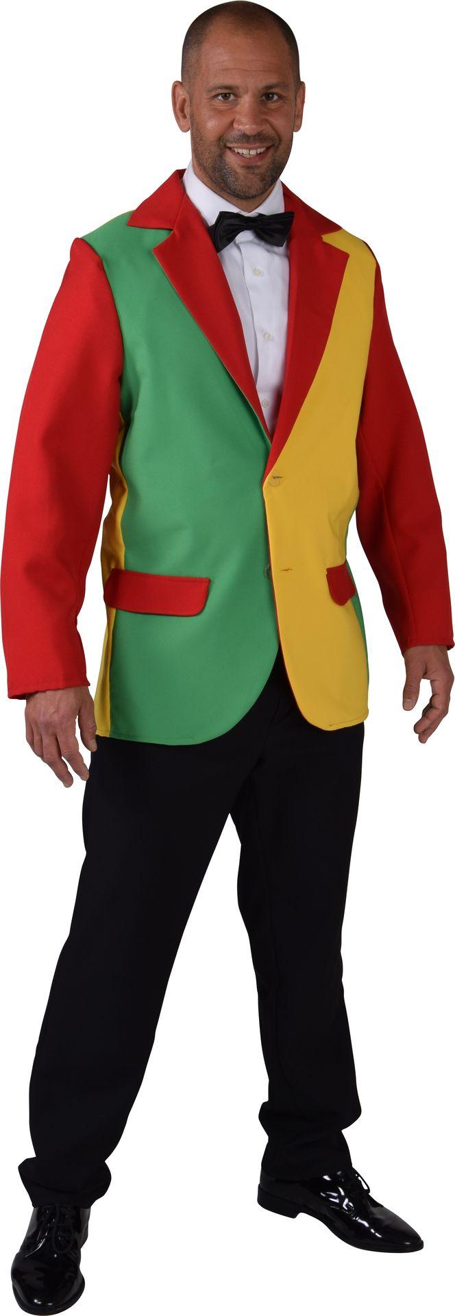 Geel groen rood circus jas heren