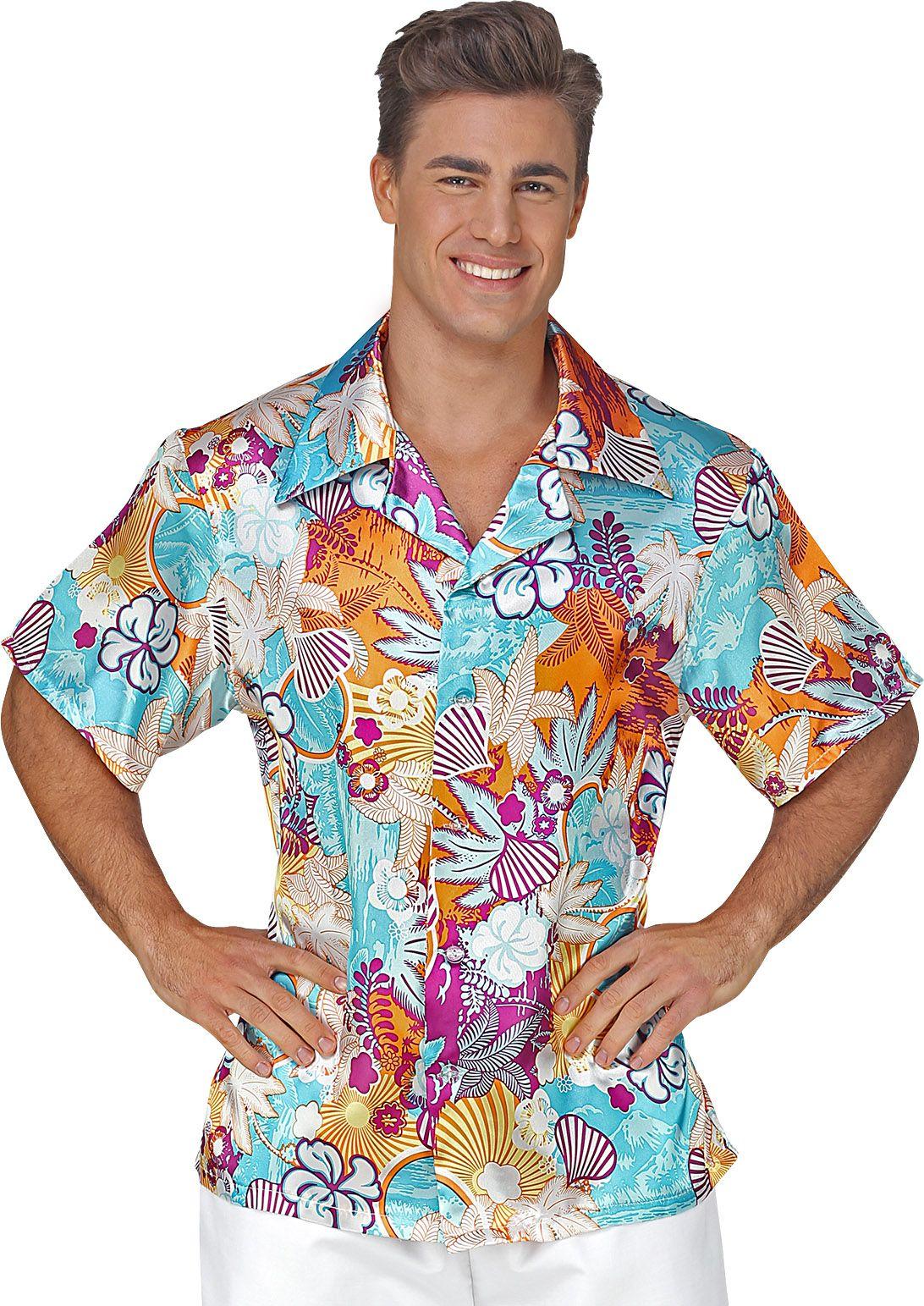 Gekleurde hawaaiiaanse blouse