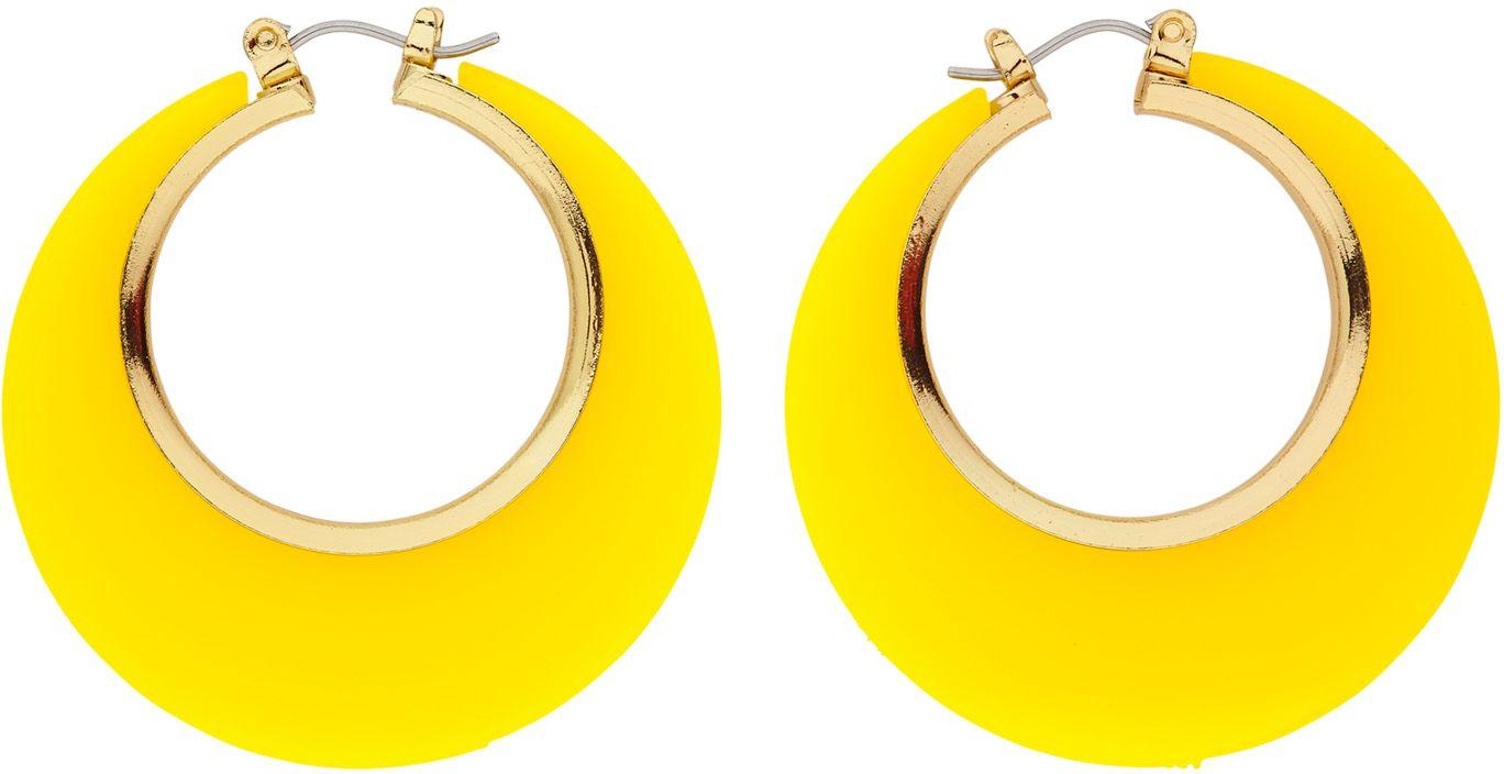 Gele 70s oorbellen