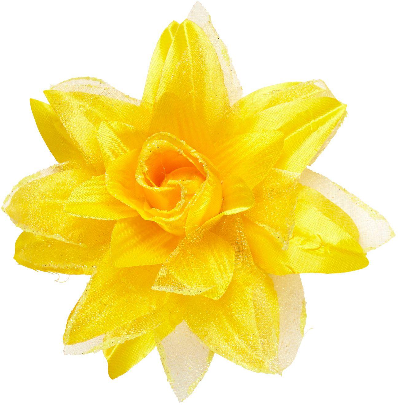 Gele bloem haarspeld