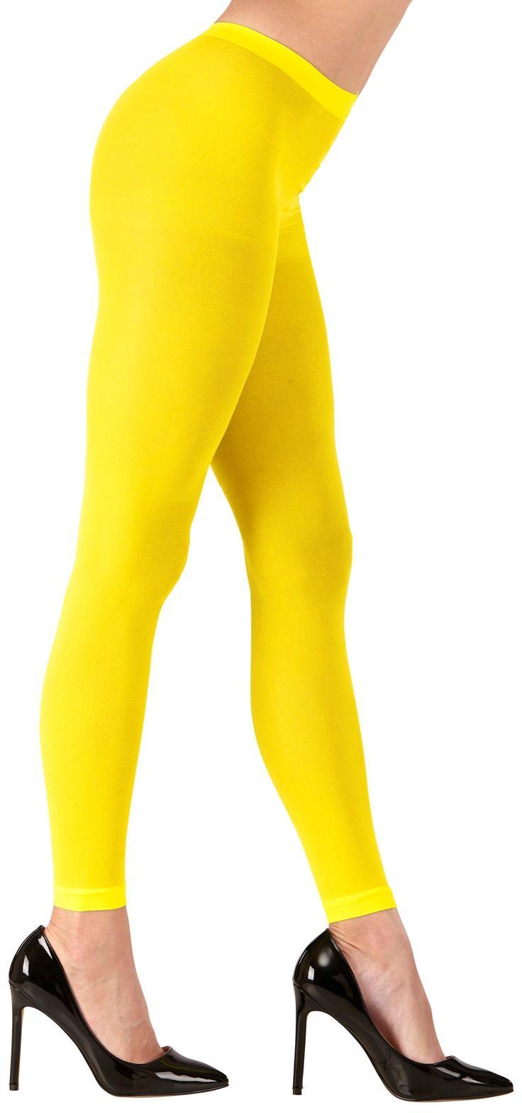 Gele neon legging One-size-volwassenen