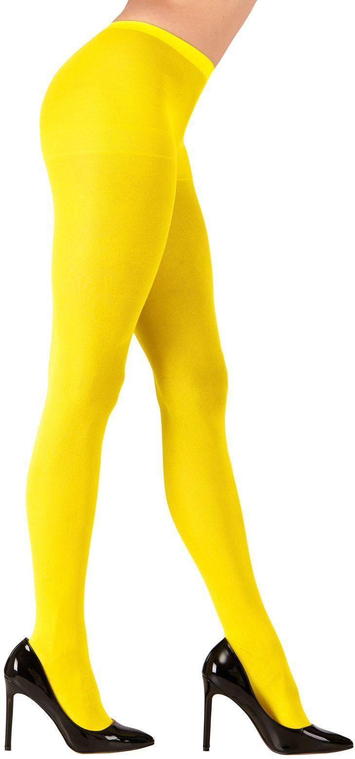 Gele neon panty