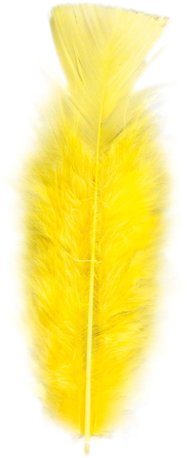 Gele veren 50 stuks