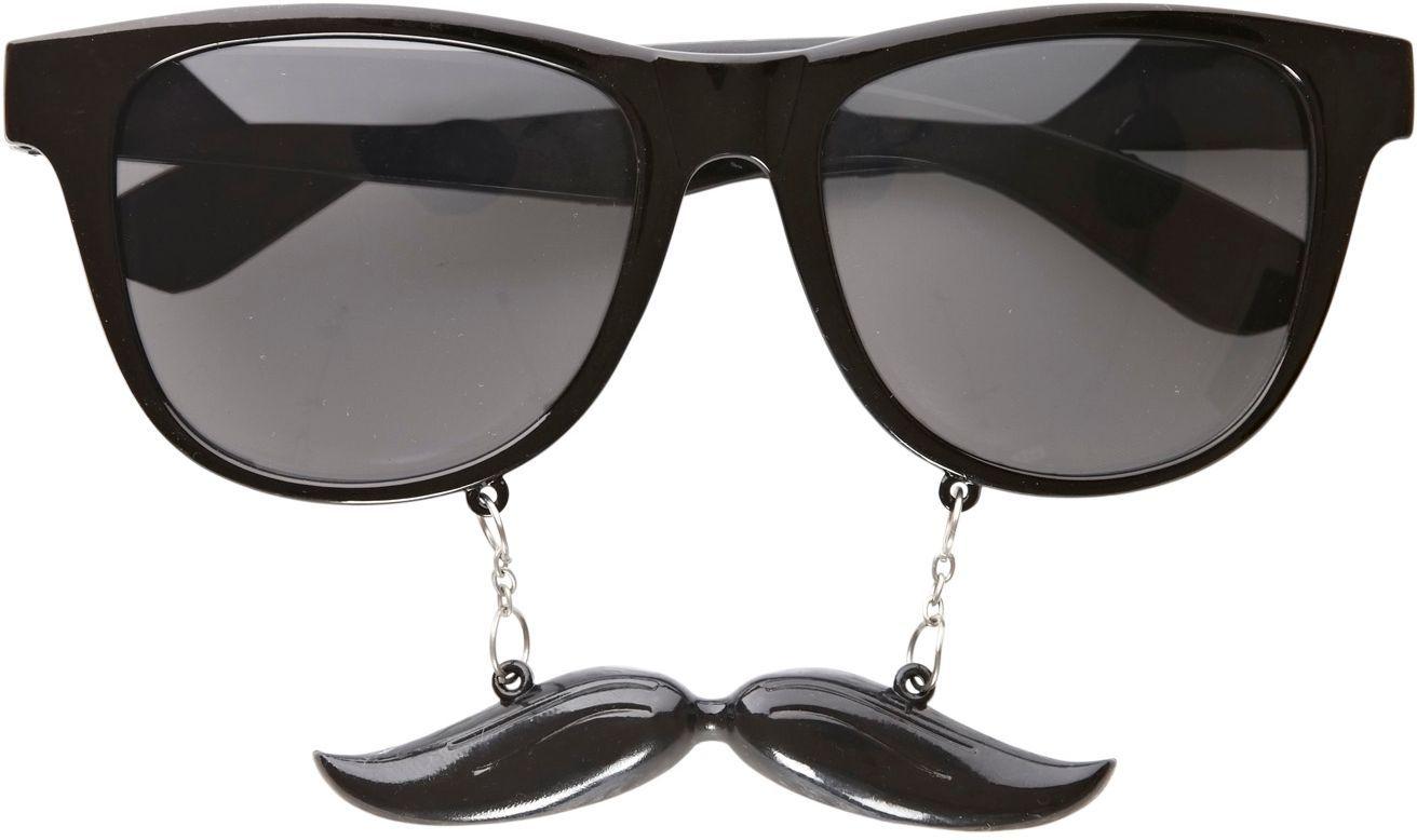 Gentleman bril met snor
