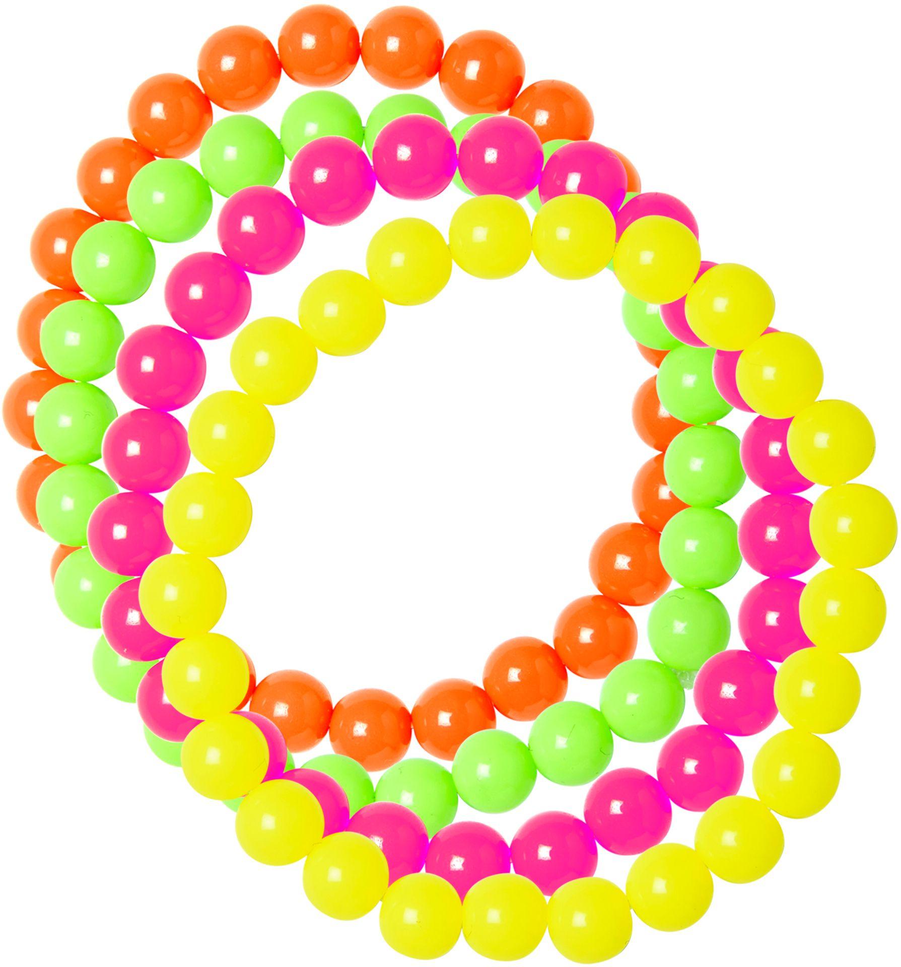 Geparelde neon armbanden 4 stuks