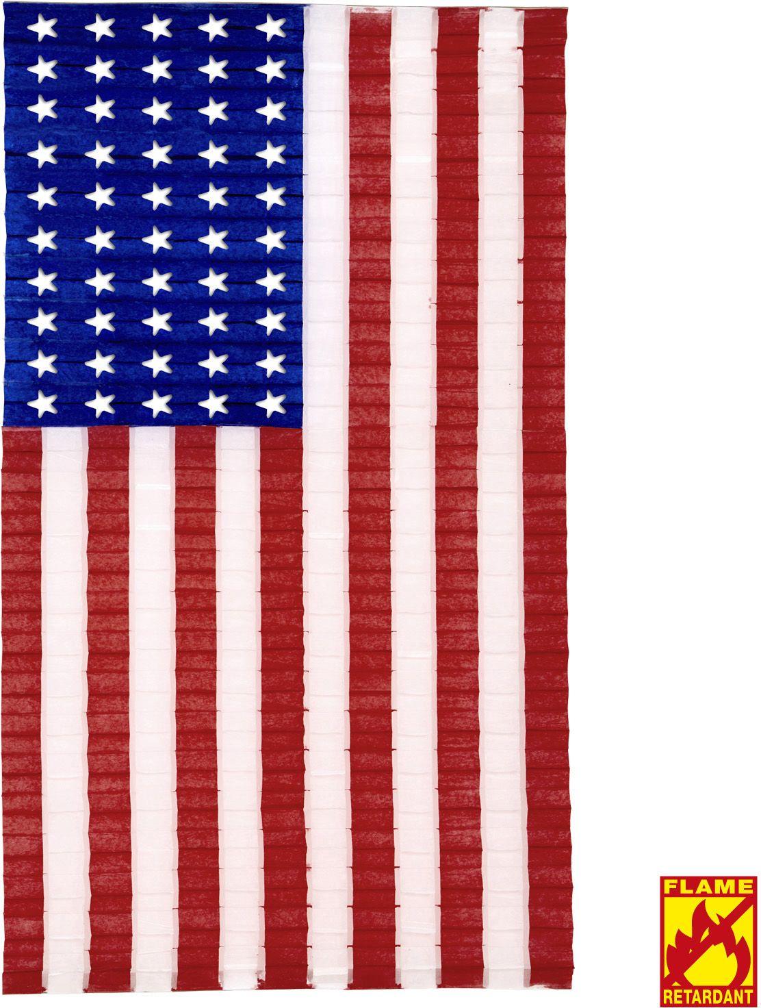 Geplooide amerikaanse vlag