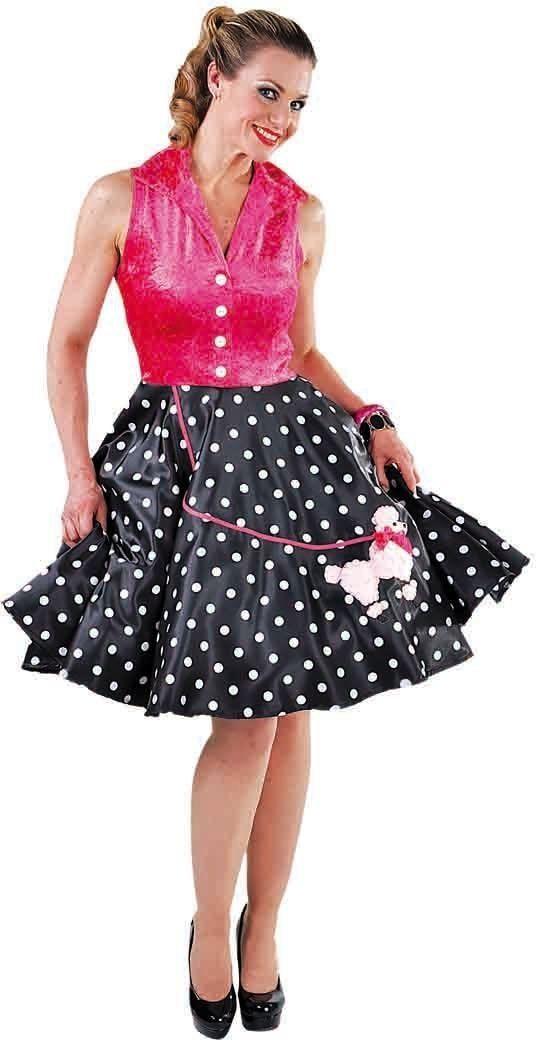 Gestipte retro jurk met poedel