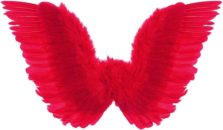Geveerde vleugels rood