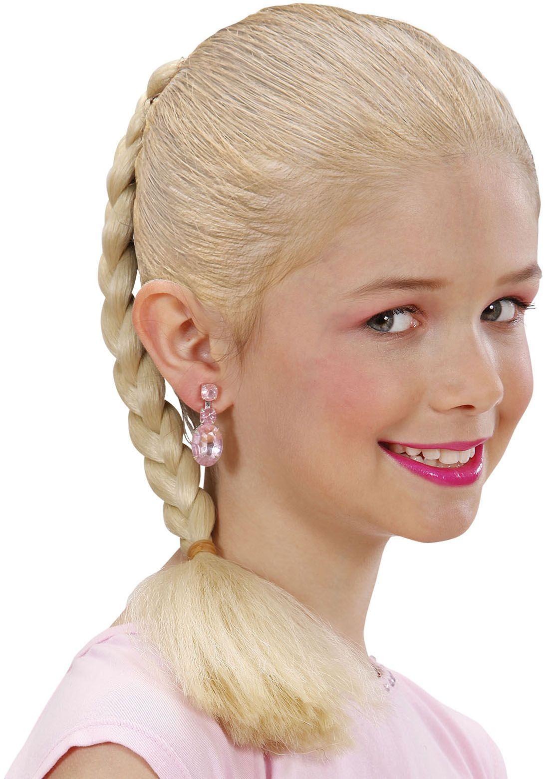 Gevlochten haarextensie blond
